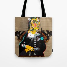 Mona Dora Lisa Maar Collage 1 Tote Bag