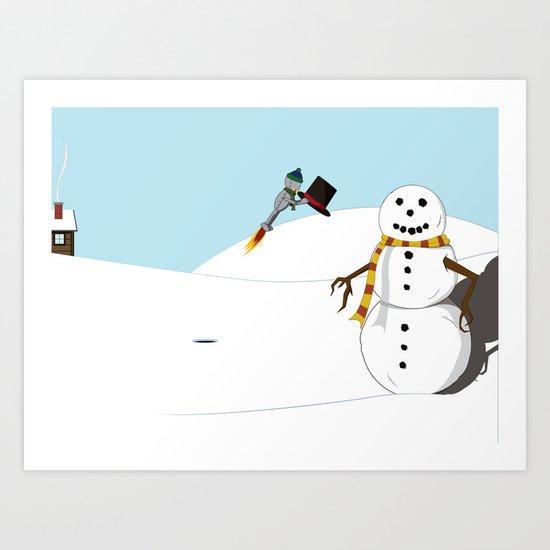 December Robot Art Print