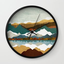 Winter Lake Wall Clock