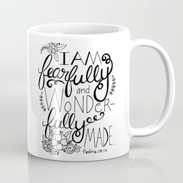 Fearfully and Wonderfully Made - BLACK Coffee Mug
