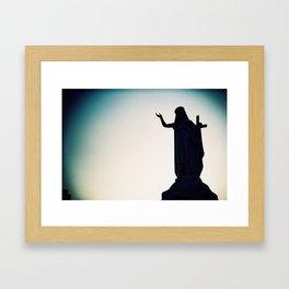Silhouette of Mary Framed Art Print