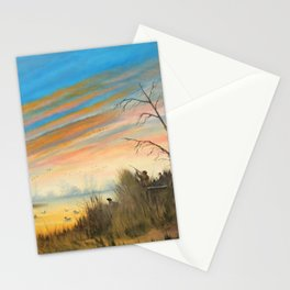 Evening Duck Hunters Stationery Cards