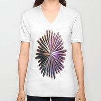 the wire V-neck T-shirts featuring Wire Circle by Brian Raggatt
