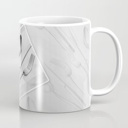 Silverware - Grey Design Coffee Mug