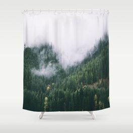 Forest Fog XVII Shower Curtain