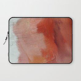 Desert Journey [1]: a textured, abstract piece in pinks, reds, and white by Alyssa Hamilton Art Laptop Sleeve