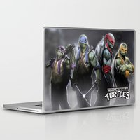 ninja turtles Laptop & iPad Skins featuring ninja turtles  , ninja turtles  games, ninja turtles  blanket, ninja turtles  duvet cover by ira gora