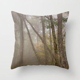 Misty Spruce Knob Forest Throw Pillow