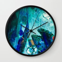 Bright Ocean Spaces, Tiny World Collection Wall Clock