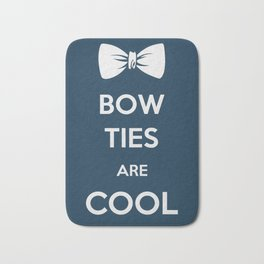 Bow ties are Cool Bath Mat