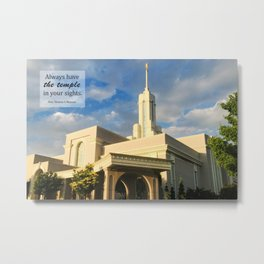 Always Have The Temple In Your Sights Metal Print