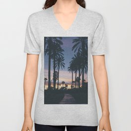 SUNRISE - SUNSET - PALM - TREES - NATURE - PHOTOGRAPHY Unisex V-Neck