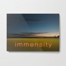 Immensity On A Night Summer Beach Metal Print