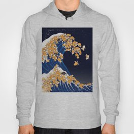 Shiba Inu The Great Wave in Night Hoody