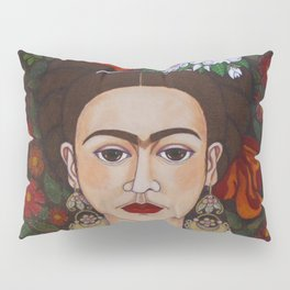Frida with butterflies Pillow Sham