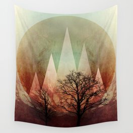 TREES under MAGIC MOUNTAINS I Wall Tapestry