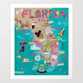 Feel Florida Art Print