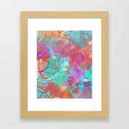 color splatter watercolor digital print Framed Art Print