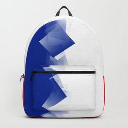 France Flag Cubic Backpack