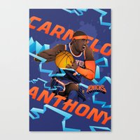 nba Canvas Prints featuring NBA Stars: Carmelo Anthony by Akyanyme
