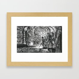 Inktober 2017: The Crypt Framed Art Print