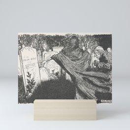 Arthur Rackham - Dickens' Christmas Carol (1915): The Spirit Among the Graves Mini Art Print