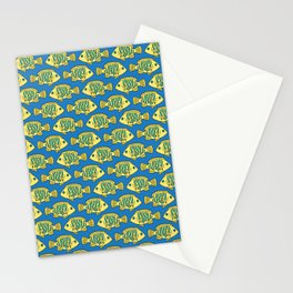 Tropical Fish in Pastel - Doodle Pattern Stationery Cards