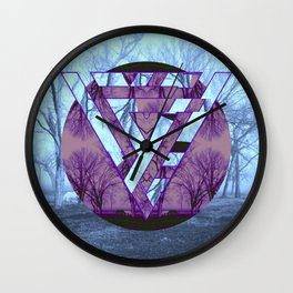 Twisted side Wall Clock