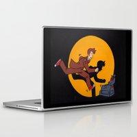 tintin Laptop & iPad Skins featuring Les Aventures du Docteur by Meghan M Hawkes