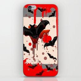 FLYING VAMPIRE BLACK BATS & HALLOWEEN BLOODY ART iPhone Skin