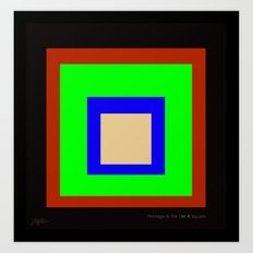 homage to the CMYK square. Art Print