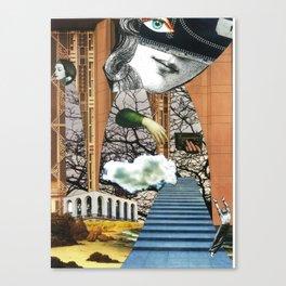 cloud venus - collage Canvas Print