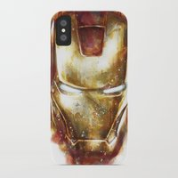 iron man iPhone & iPod Cases featuring Iron Man by beart24