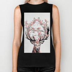 Deer and Flowers Biker Tank