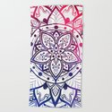Inner Peace Red Purple Blue Mandala by inspiredimages