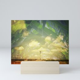 Farm And Corn Double Exposure Mini Art Print