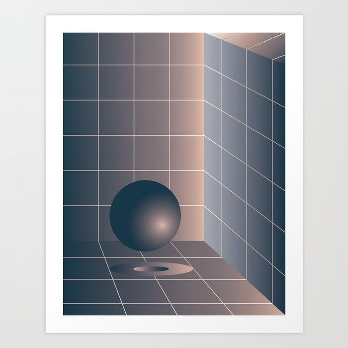 Shape study #6 - Memphis Collection Art Print