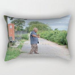 NYC Morning Exercise Photograph Rectangular Pillow