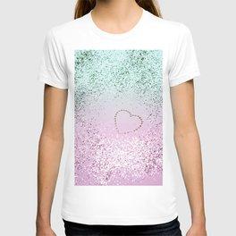 Mermaid Lady Glitter Heart #4 #decor #art #society6 T-shirt