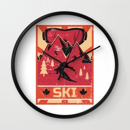 Ski Propaganda | Winter Sports Wall Clock