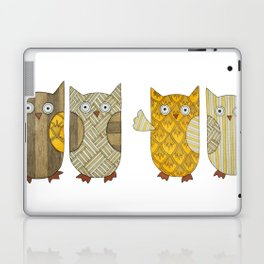 4 Gold Owls Laptop & iPad Skin