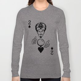 Sawdust Deck: The 2 of Spades Long Sleeve T-shirt