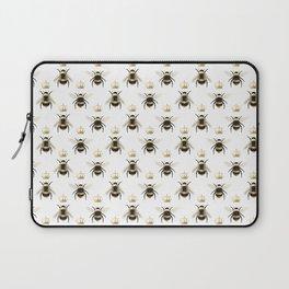 Gold Queen bee / girl power bumble bee pattern Laptop Sleeve