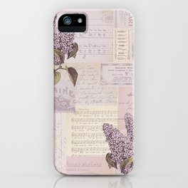 Vintage Flyers and Lilacs iPhone Case