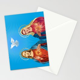 Jesus Christ and the Virgin Mary Stationery Cards