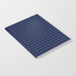 Navy Blue Pinstripes Lines Minimal Notebook