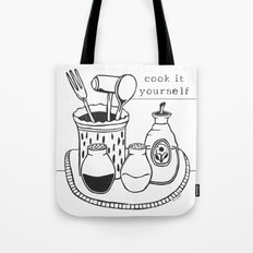 Cook it Yourself Folk Art Tote Bag