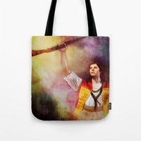 enjolras Tote Bags featuring  Les Misérables Enjolras Genderbend by Kjerstin A