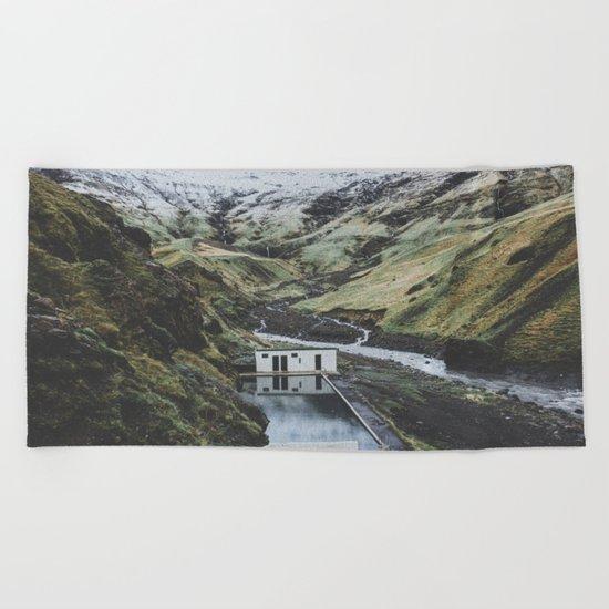 Seljavallalaug, Iceland Beach Towel