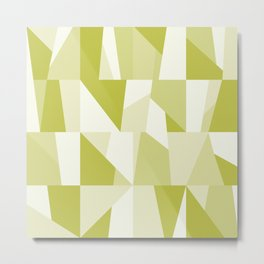 Geometric Green Pattern Metal Print